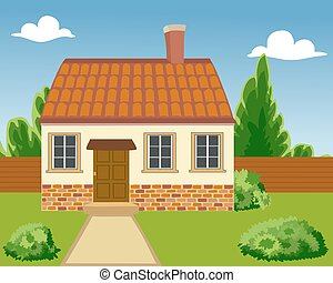 Illustration of a Ecological house