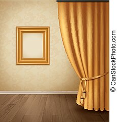 Classical Curtain Interior - Classical curtain interior with...
