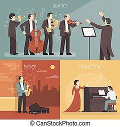 Musicians Design Concept Set - Musicians design concept set...