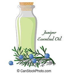 Essential oil of juniper - A bottle full of essential oils...
