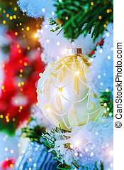 christmas atmosphere - Festive decoration of the room for...