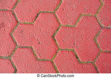 Rote Pflastersteine