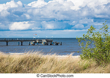 The pier in Bansin on the island Usedom, Germany.
