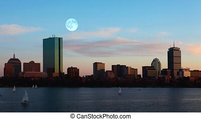 Full Moon over Boston - A Full Moon over Boston