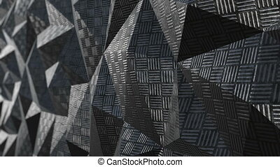 Metallic abstract geometric background loop - Metallic...