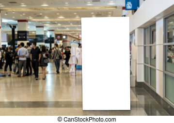 Blank billboards located in exibition hall useful for your...
