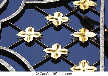goldene Lilien aus Metall, Deutschland, Europa