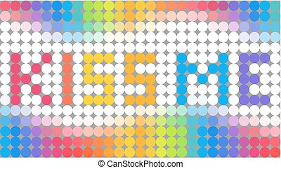 Dotted background with KISS ME text