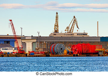 Port of Stavanger - Cable storage in port of Stavanger,...