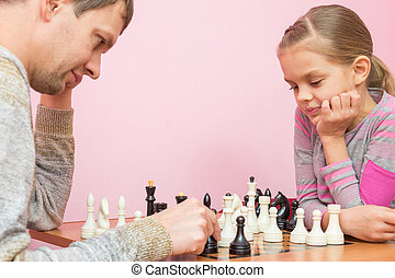 The Pope and the seven-year daughter playing chess