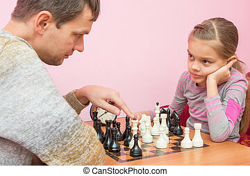 Pope explains daughter tactics of the game of chess