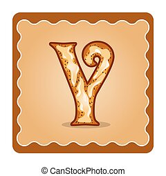 Letter y candies - Cards for children for learning the...
