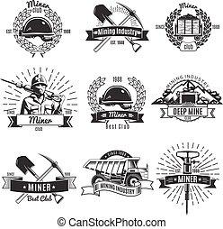 vendimia, minería, industria, emblemas