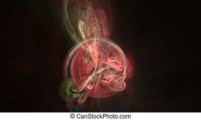 Colorful curves abstract loop motion background - Colorful...