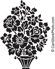 Floral Bouquet Illustration - Floral vase ornament. Easy to...