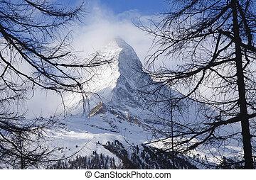 Matterhorn - das Matterhorn von der Riffelalp aus gesehen