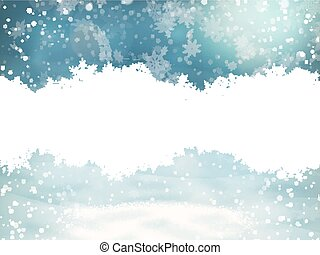 Christmas background with snowflakes. EPS 10 - Magic blue...