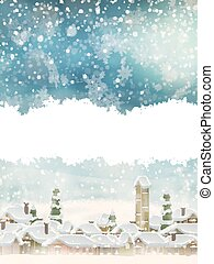 Christmas landscape with christmas tree. EPS 10 - Christmas...