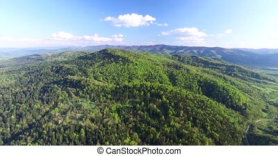 Aerial view. Up above the hills - Up above the hills, hilly...