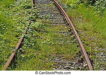 Eisenbahnschienen - Alte Eisenbahnschienen, Deutschland,...