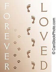 Dog Memorial - Forever Loved is an illustration of a...