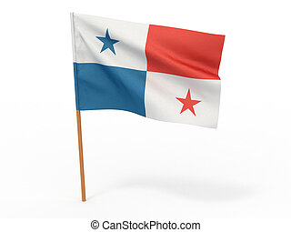 Flag of Panama. 3d