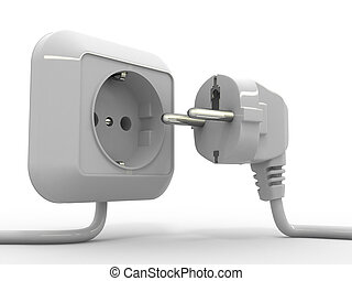 Plug and socket 3d