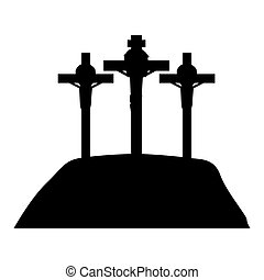 good friday isolated icon vector illustration design