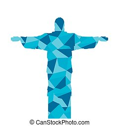 corcovado christ silhouette icon