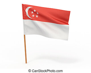 Flag of Singapore 3d