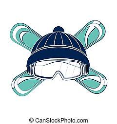 ski sport emblem icon vector illustration design