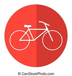 bicycle transport active sport red circle vector...