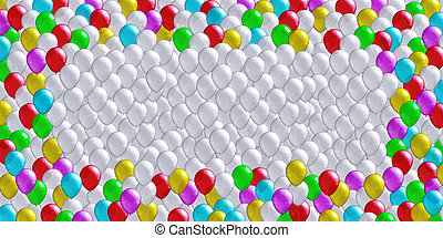 Cheerful balloons background - Background from the great...