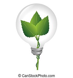 bulb with ecology symbol