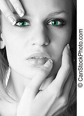 beautiful blond woman - portrait of a beautiful blond woman...