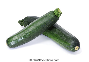 zucchinis - a pair of zucchinis isolated on a white...