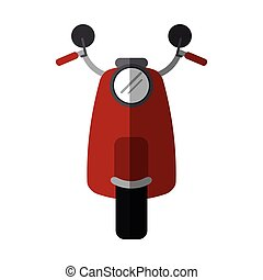 red scooter motrocycle classic transport vector illustration...