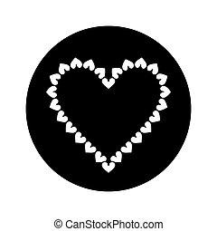 silhouette valentine day heart decorative - slhouette...
