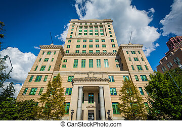 The Buncombe County Court House, in downtown Asheville,...