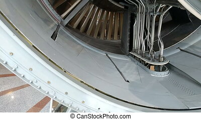 jet engine - Detailed exposure of a turbo jet engine.