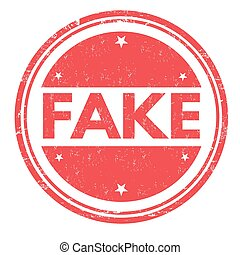 Fake sign or stamp - Fake grunge rubber stamp on white...