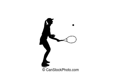 Tennis in the sports form fills ball racket edge....