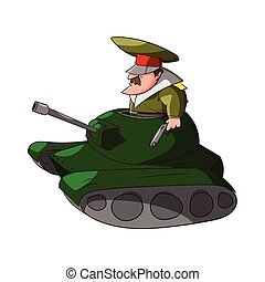 Vector Cartoon General - Colorful vector illustration of a...