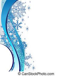 Christmas blue postal