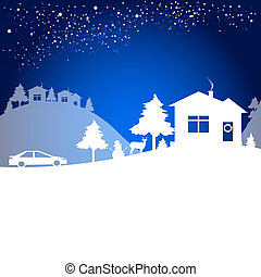 Christmas night card