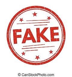 Fake sign or stamp
