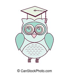 owl with hat graduation