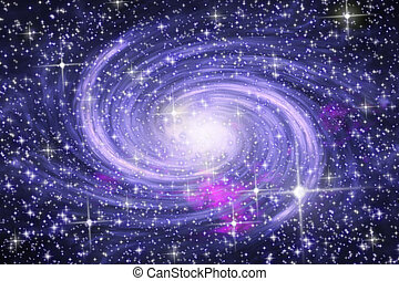 Spiral galaxy - Big spiral galaxy in far star space