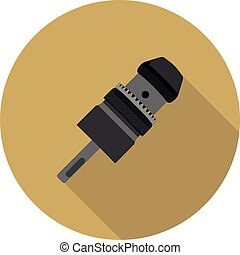flat icon Keyless Chuck drill in vector format eps10