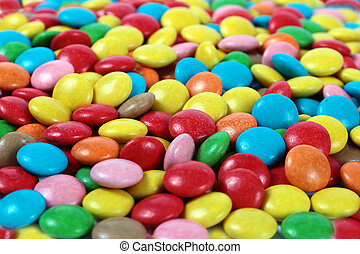 delicious sweet dragees - beautiful colorful delicious sweet...